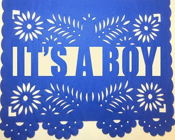 Bebe Papel Picado Banner  Baby Shower  Bridal by CalaveraPress