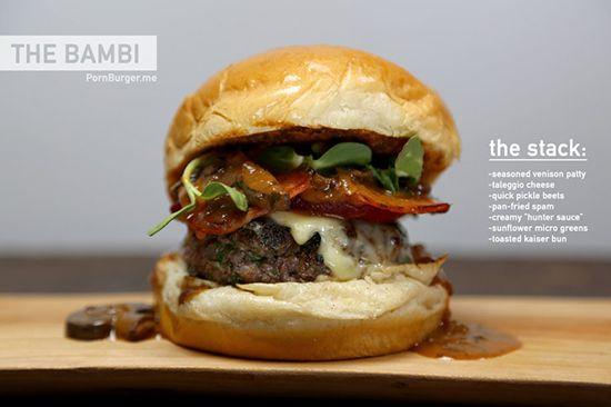 The Bambi BurgerPornburg 01 Bambi, Cheeseburgers, Quick Pickles, Food Porn, Burgers Porn, Foodporn, Fast Food, Bambi Burgers, Pickles Beets