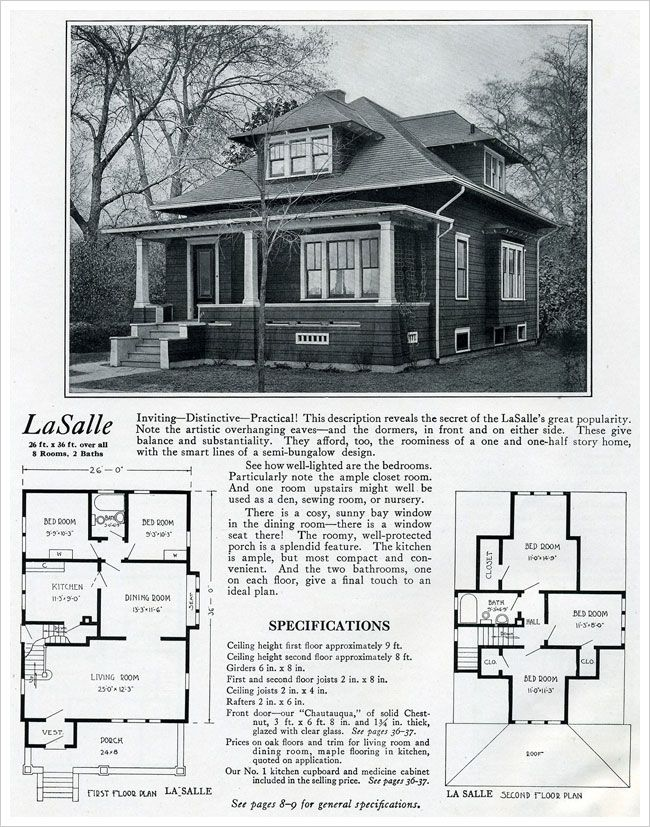 Craftsman bungalow house plans 1920s for 1920 house plans