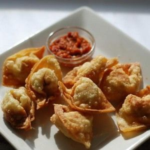 Indonesian Food. Pangsit Goreng. Fried Dumplings