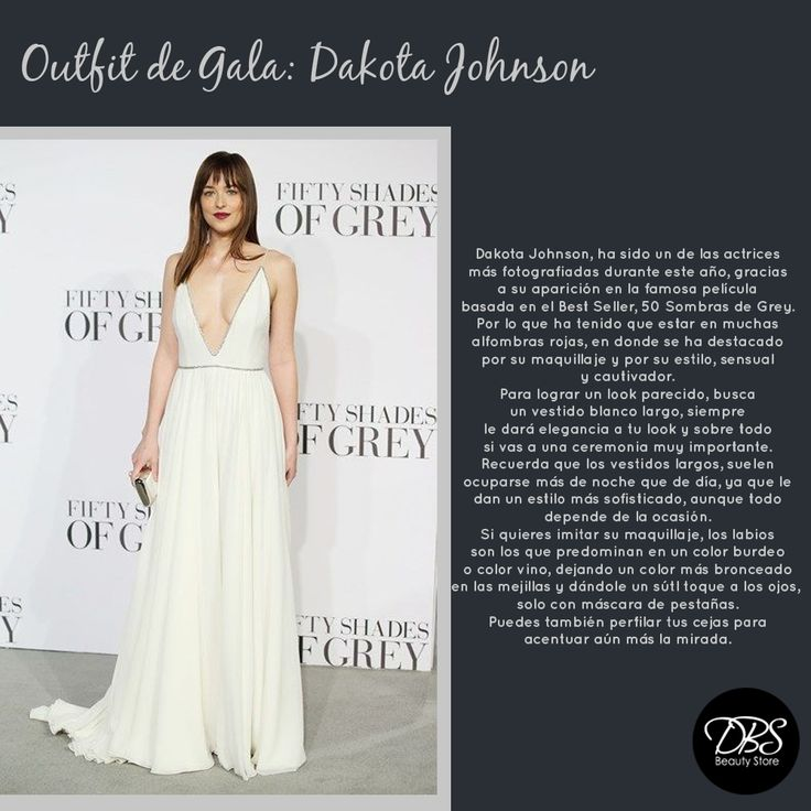 Si quieres lograr un look de gala al puro estilo de Dakota Johnson de las 50 Sombras de Grey, no puedes perderte este pin, dónde podrás encontrar pequeños tips para lograr el look de la encantadora actriz. #DBS #FiftyShadesOfGrey