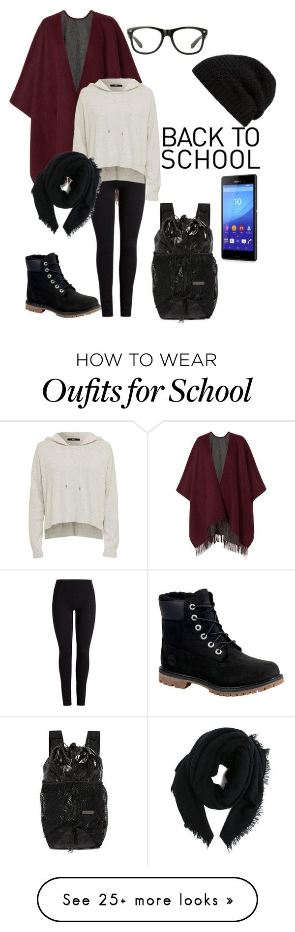 """back to school // high school"" by dadyrabbit on Polyvore featuring adidas, rag & bone, Sony, Rick Owens and Timberland"