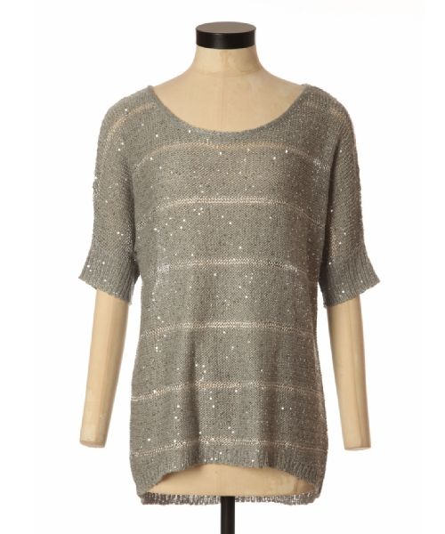 bootlegger.com : kismet carys metallic sequined sweater in silver, gold, black and cream
