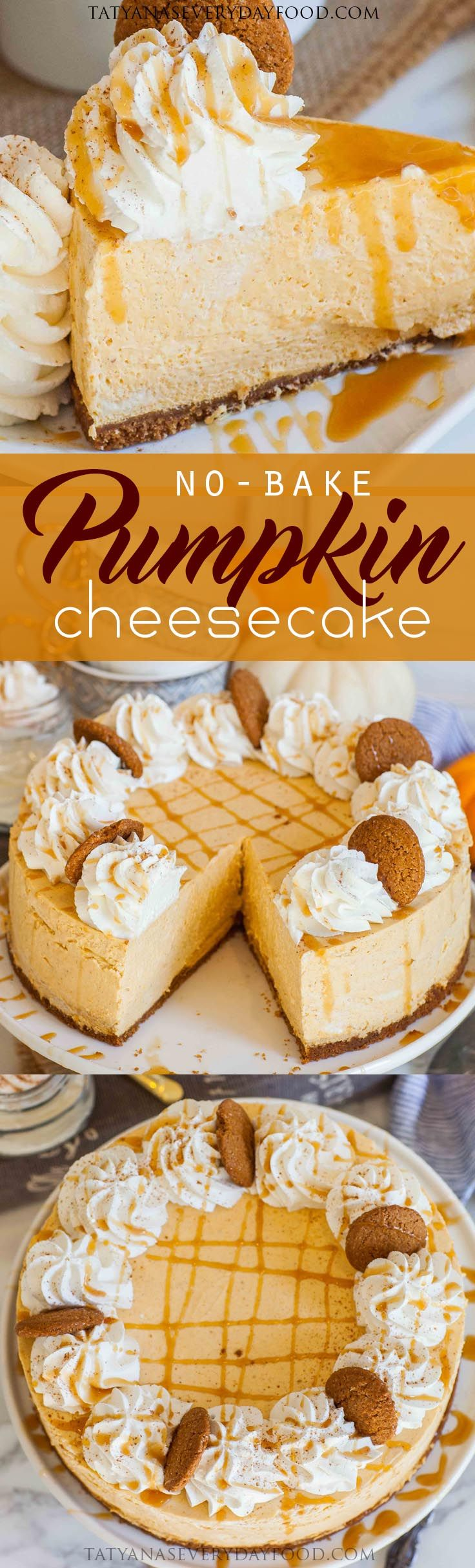 No Thanksgiving table is complete without a turkey, mashed potatoes, pies and pumpkin cheesecake! If your kitchen is anything like mine before the holidays, the oven is in use constantly, not leaving much time for cheesecake baking! My no-bake pumpkin cheesecake with a ginger snap cookie crust, whipped cream and caramel sauce is the best […]