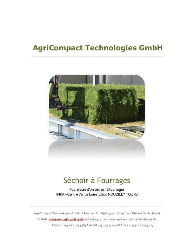 Séchoir à fourrages avec énergie renouvelable biogaz by AgriCompact Technologies GmbH - Energy  Technology, Germany via slideshare