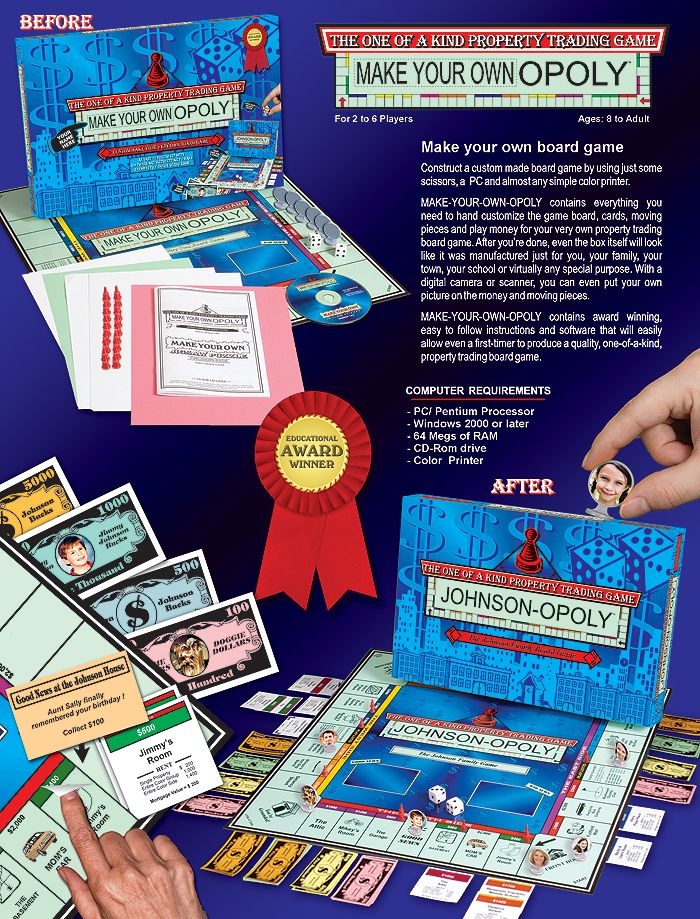 The 25 best make your own monopoly ideas on pinterest th game make your own opoly the first do it yourself board game solutioingenieria Gallery