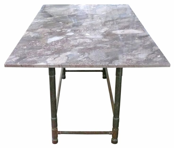 Unusual Copper and Exotic Granite Dining Table   From a unique collection of antique and modern dining room tables at https://www.1stdibs.com/furniture/tables/dining-room-tables/