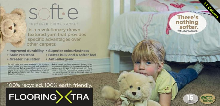 Soft.e carpet made from recycled PET bottles