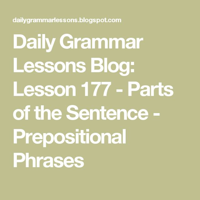 how to find the prepositional phrase in a sentence