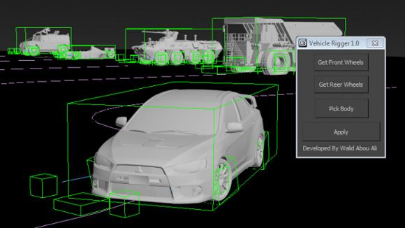3ds Max - Vehicle Rigger Script