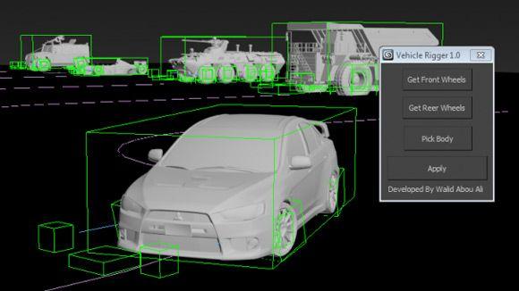 3ds Max - Vehicle Rigger Script