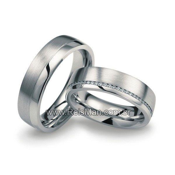 Alianças de casamento, estilo...