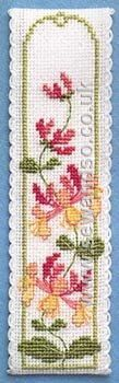 Buy Honeysuckle Bookmark Cross Stitch Kit online at sewandso.co.uk