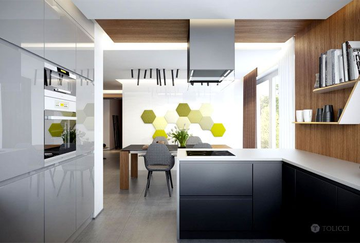 Luxurious Countryside #Residence in Slovakia by TOLICCI residence slovakia tolicci #kitchen 1