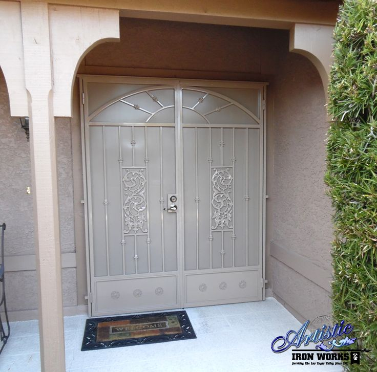 242 best wrought iron security doors images on pinterest for Security doors for french doors