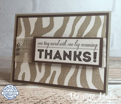 It's Wild & One Big Meaning Stamp Sets, Stampin' Up!, Maggie Mata