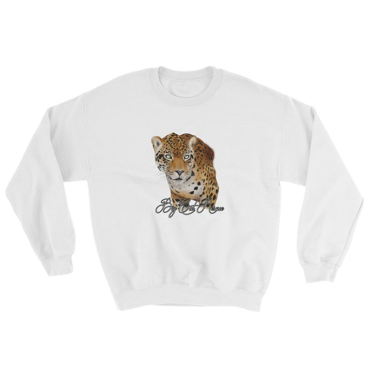 Hoping this new Manny Jaguar Colo... inspires you to protect cats. 100% of profits supports cats from tabbies to tigers http://catrescue.myshopify.com/products/manny-jaguar-color-sweatshirt?utm_campaign=social_autopilot&utm_source=pin&utm_medium=pin