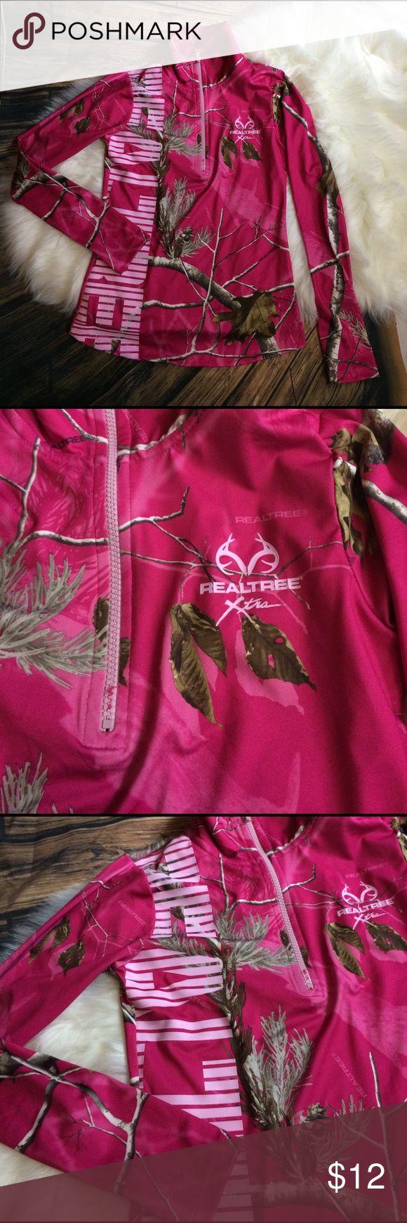 Realtree pullover jacket Real Tree Xtra Pink Camo Jacket Shirt Pullover with  Zipper RealTree Jackets & Coats Utility Jackets