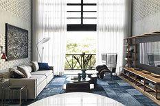 Loftový byt v brazilském São Paulu byl navržen na míru úspěšnému muži, použité barvy, materiály i industriální prvky jsou pro pánský styl charakteristické