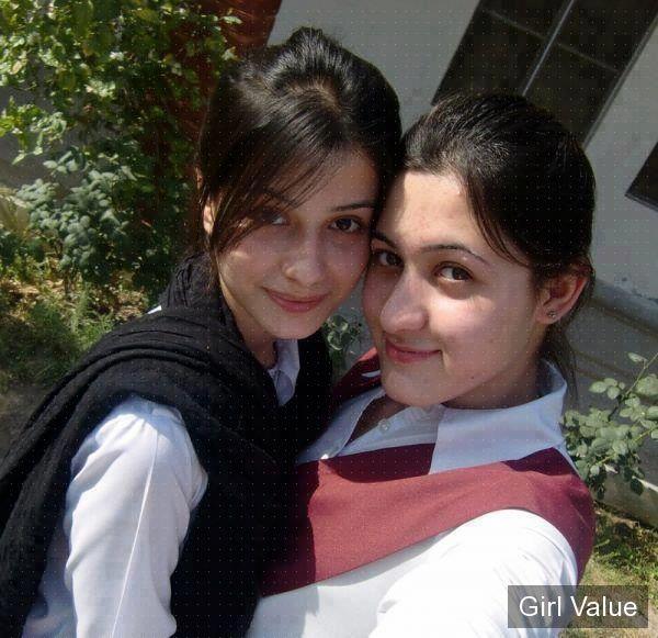 Pashto, Pakistan College Girl in White Dress