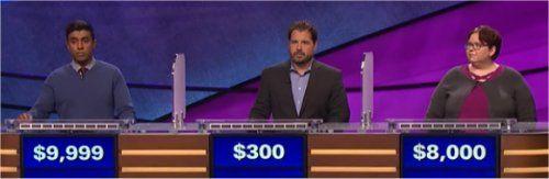 Final Jeopardy Results for Thursday, June 8, 2017 Bala Kumar on far left