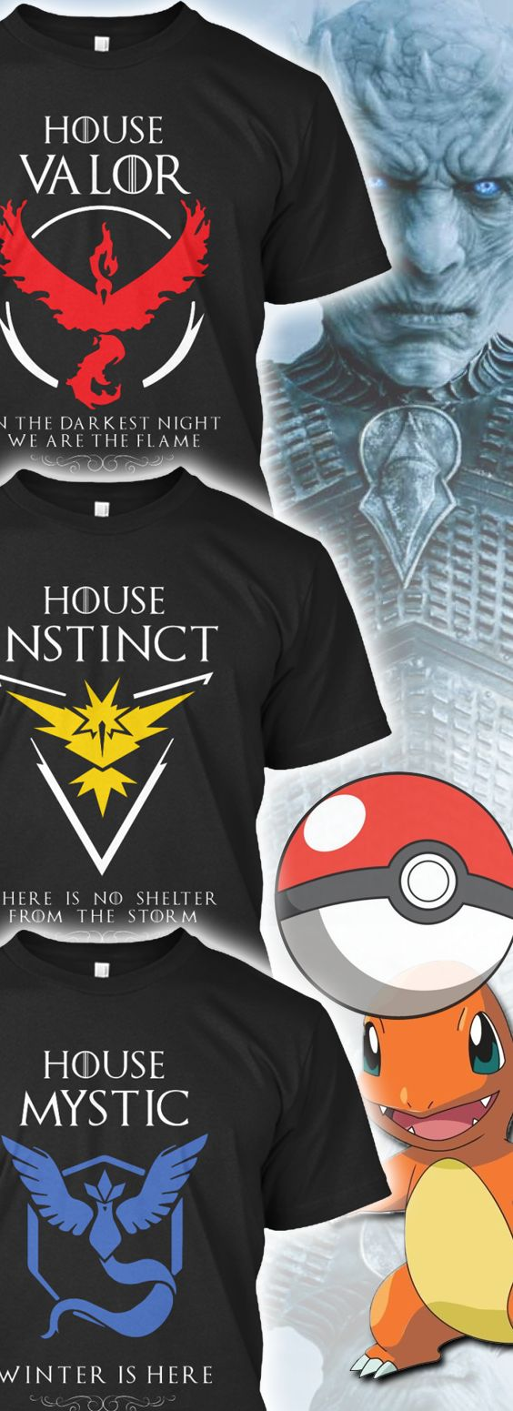 Black Premium Shirt   House Instinct   Team Instinct   Team Valor   Team Mystic   House Valor   House Mystic  Pokemon Go   Video Games   Game of Thrones   Geeky Tees