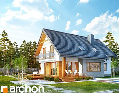 """Check out new work on my @Behance portfolio: """"Projekt domu w aurorach"""" http://on.be.net/1Op9Tly"""