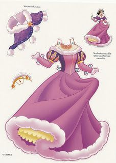 Miss Missy Paper Dolls Foreign Disney Princess
