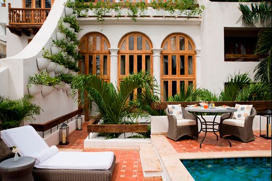 Casa San Agustin, boutique hotel within the historic walled city in Cartegena, Columbia. American designer Kelley McRorie