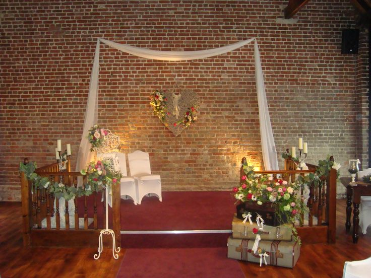 The dais in the ceremony barn - Wedding Venue in Kent.