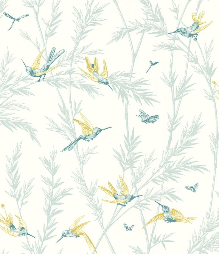 Waters Edge Teal/ Lime wallpaper by G P & J Baker