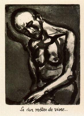 Georges Rouault: La dura tarea de vivir. - 1917 - 1927. Plancha 12 de Miserere.