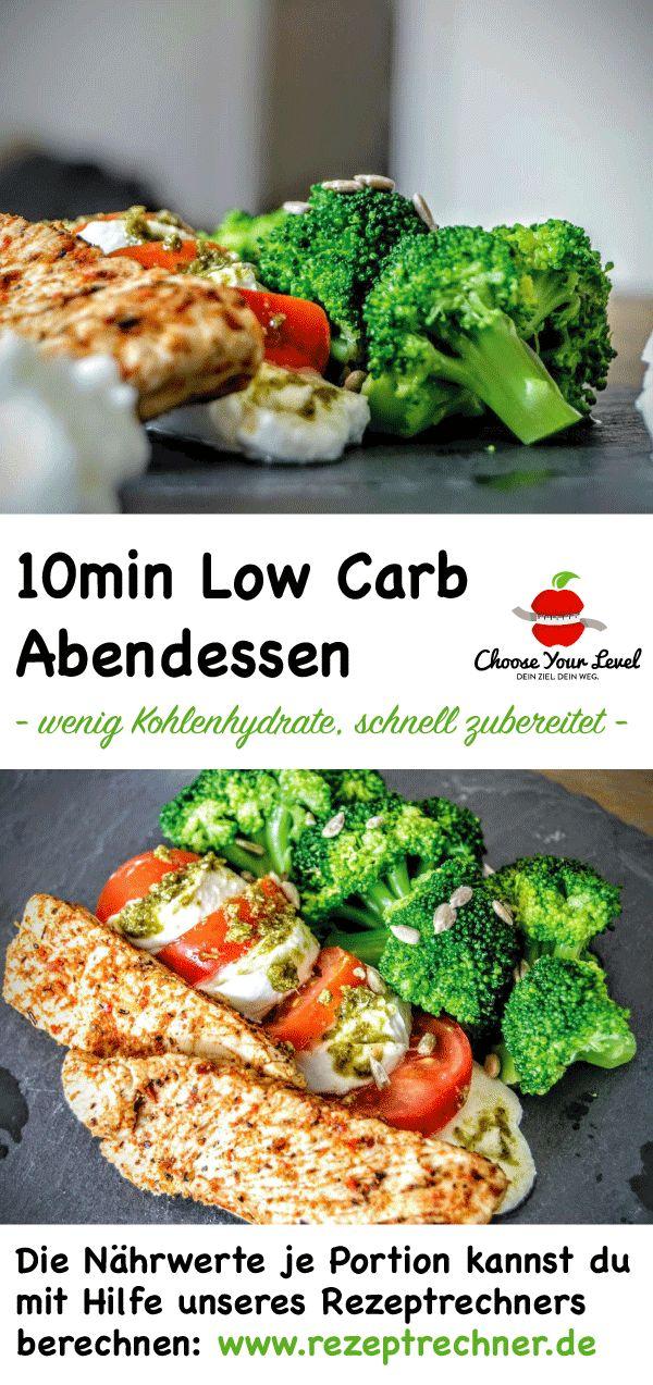 10 Minuten Low Carb Rezept – schnelles Abendessen mit wenig Kohlenhydraten – low… – Low Carb