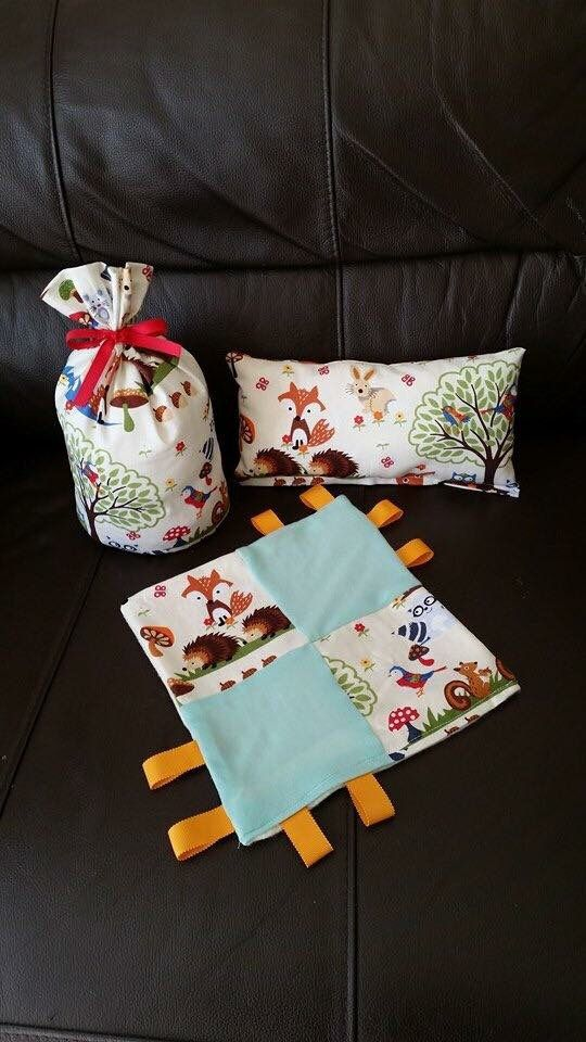 #Handmade #soother/ #taggy #blanket with #matching #cushion and #doorstop.