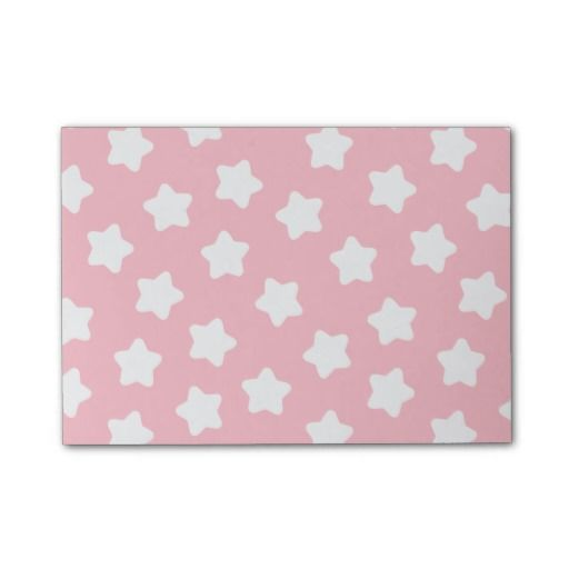 Cute Baby Pink Star Pastel -Colored Post-It® Notes