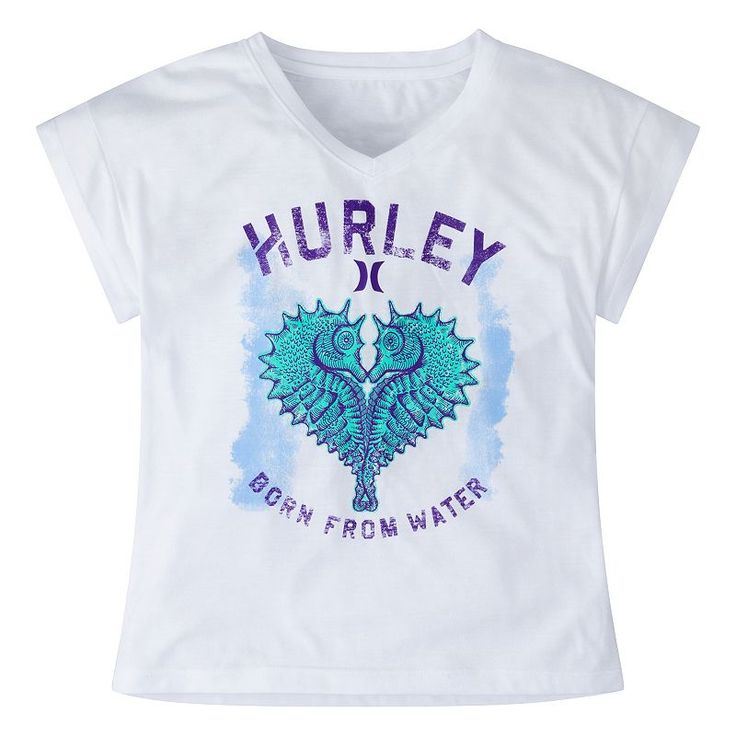 Girls 7-16 Hurley Permanent Vacation Knit Tee, White