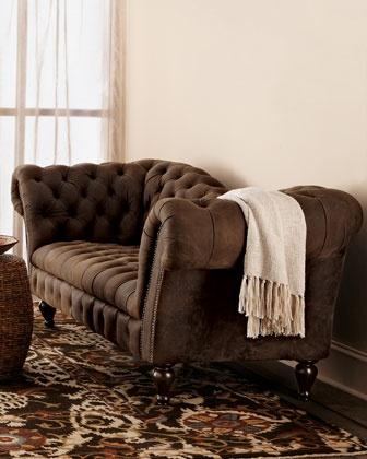 Oak Leather Recamier Sofa Beautiful Furniture And Offices