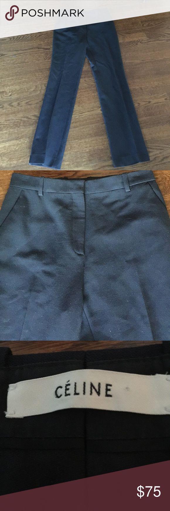 Celine Navy Dress Pants 28 waist Celine, Navy Blue Dress Pants, Celine Pants Trousers