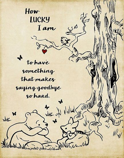 Winnie The Pooh How Lucky I Am Poster Pooh Winnie The Pooh