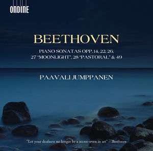 "Kansikuva Piano sonatas opp. 14, 22, 26, 27 ""Moonlight"", 28 ""Pastoral"" & 49"