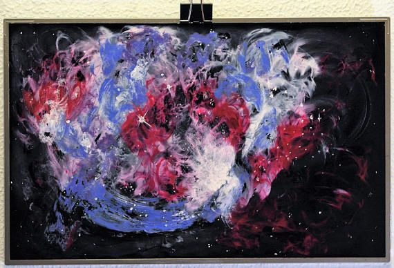 Sobre PANTALLA ROTA de PORTÁTIL Galaxia Nebulosa Sistema
