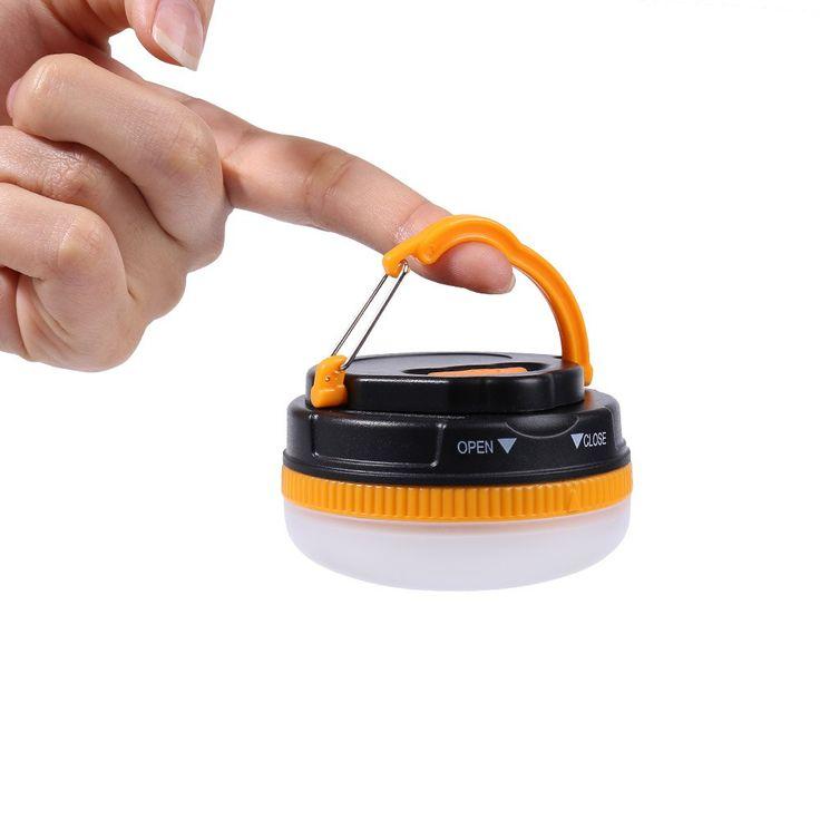 Camping & Hiking & Skiing   Yellow And Black Mini 5 Modes LED Camping Lamp