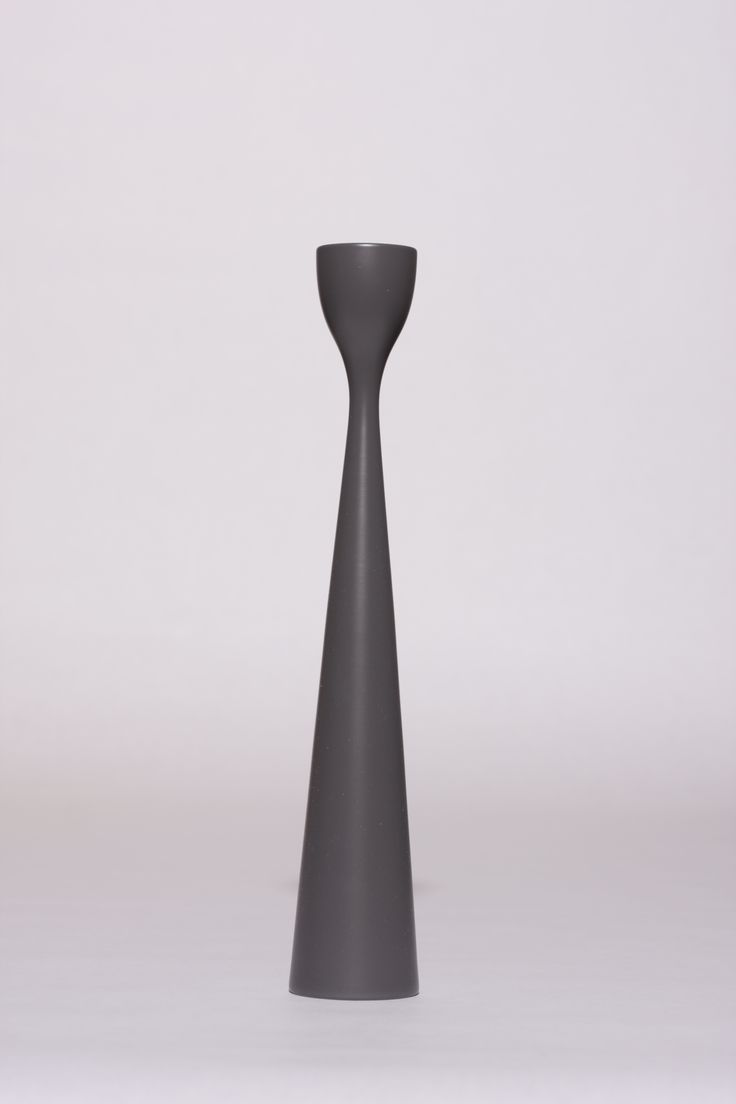 FREEMOVER ANTHRACITE GREY no35 - Rolf™ (M) Candlesticks. Design: Maria Lovisa Dahlberg. freemover.se - lacquered FSC-certified beechwood