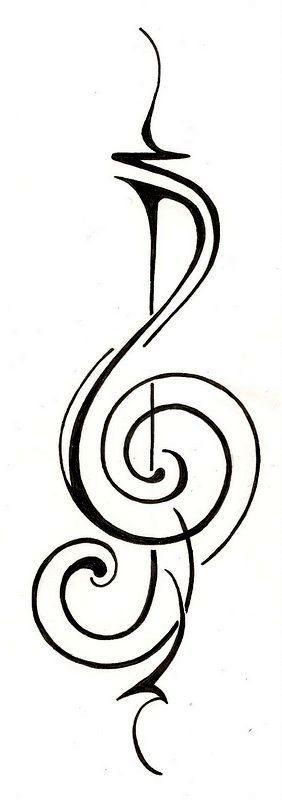 simple music tattoo design