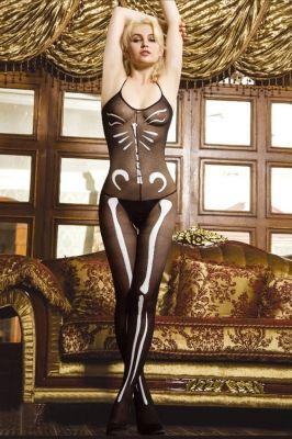 Lovely Bone Print Body Stocking Only US$ 3.69 Order Here! http://www.feelingirldress.com/Lovely-Bone-Print-Body-Stocking-p6552.html #BodyStocking