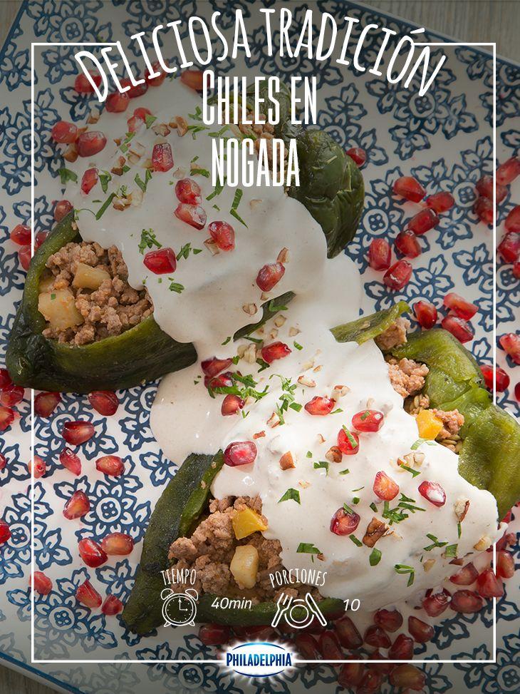 La familia se va a reunir para festejar ¿ya sabes qué les vas preparar? #Receta #QuesoPhiladelphia #Chiles #ChilesEnNogada #RecetaPhiladelphia #RecetaMexicana