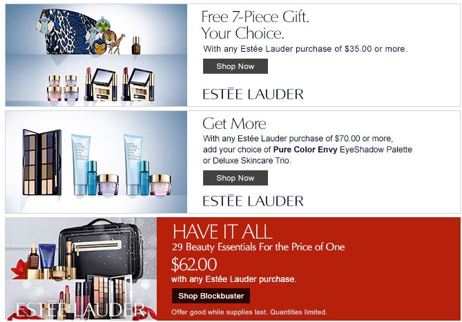 Estee Lauder promotions at Von Maur. Choose your gifts with $35 or $70 purchases. FREE. http://cliniquebonus.org/estee-lauder-gift-gwp/