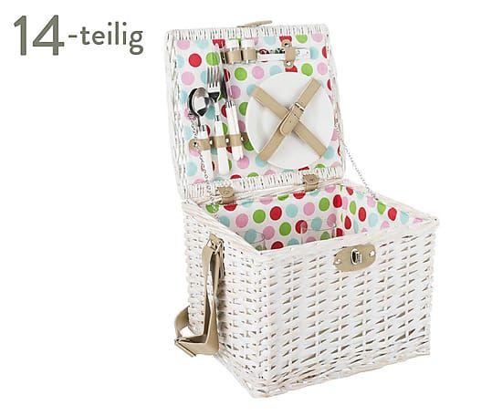 Picknickkorb Portofino für 2 Personen, 14-tlg., B 35 cm