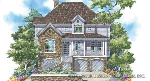 The Lake Tahoe home plan has 2534 sq feet of living area The floor