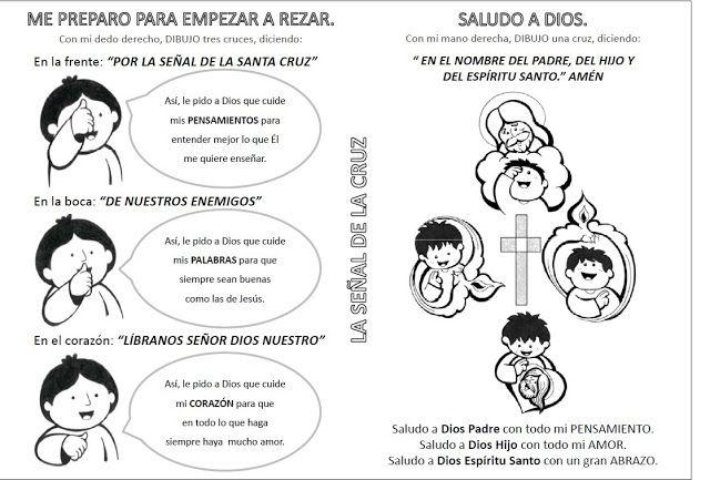 """Fuente: dibujosparacatequesis   Completa y colorea esta ficha """"La Señal de la Cruz""""         http://elrincondelasmelli.blogspot..."""